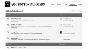 AMC Boston Paddlers Community Forums